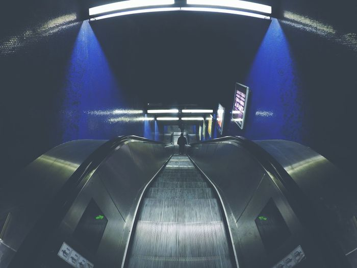 Subway Subart Blue Ride Du Soir Bonsoir
