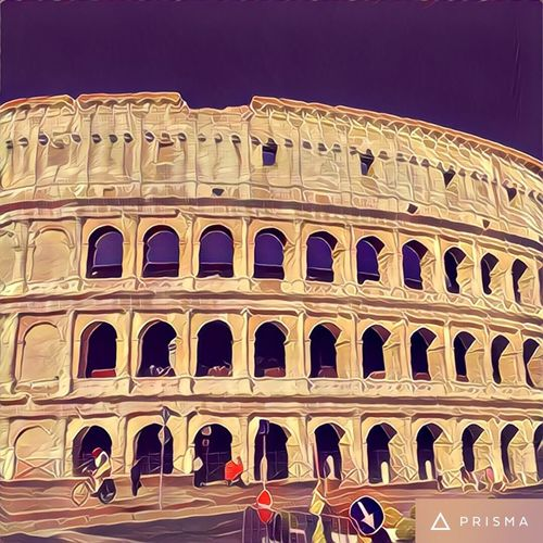 Prisma Prismacolor Prisma Application Filter Filters Filtered Image Italy Colosseo Colosseum Rome Roma