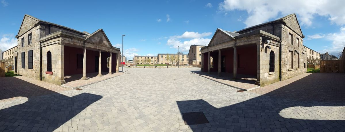 Leith Fort, from tower block to estate Panorama Architecture Leith Outdoors Paving Redevelopment Shadow Sky Social Housing Sunlight EyeEmNewHere