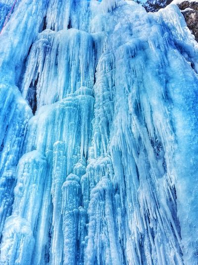 Winter Cold Temperature Snow Weather Nature White Color Close-up Frozen Backgrounds Water Blue No People Day Beauty In Nature Outdoors Frozen Waterfall Waterfalls💦 The Great Outdoors - 2017 EyeEm Awards