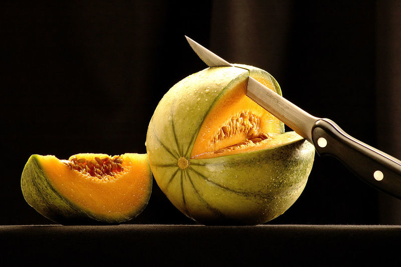 Fruit Fruits Knife Melon Melone SLICE Slice Of Melon Still Life Still Life Photography Studio Photography Studio Shot The Still Life Photographer - 2018 EyeEm Awards