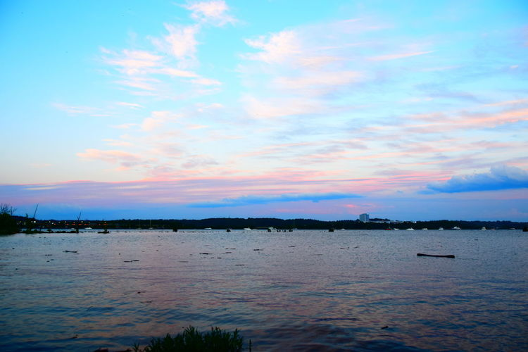 The beautiful potomac Bay in Alexandria city Beauty In Nature Cloud - Sky Day Lake Nature Nautical Vessel No People Outdoors Scenics Silhouette Sky Sunset Tranquil Scene Tranquility Water Waterfront