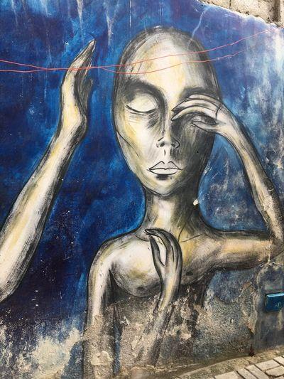 Cuba Graffiti Art Art And Craft Creativity No People Day Blue Close-up Outdoors