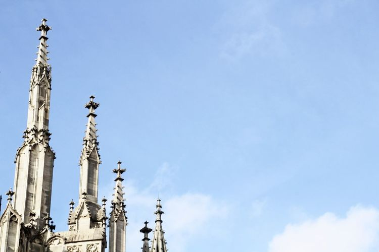 Cathedral Church Place Of Worship Minimalism Tower Germany Streetphotography Tourism Sculpture Statue Blue City Architectural Column Sky Cloud - Sky Spire  Catholicism Clock Tower Tall - High International Landmark Christianity Cross