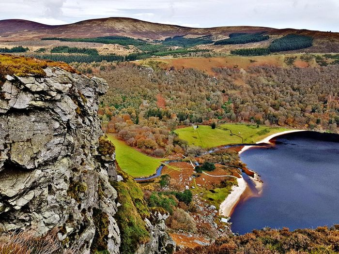 Lought tay Guiness Lake Landscape Scenics Nature Tranquil Scene Beauty In Nature Mountain River Fall Colors Autumn🍁🍁🍁 Ireland ☘ Mountain Range Wicklow Mountains  Perspectives On Nature Be. Ready.