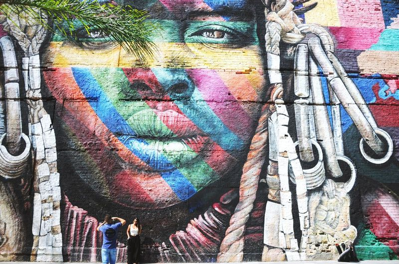 Rio de Janeiro Graffiti Multi Colored Full Frame Backgrounds Day Outdoors Street Art First Eyeem Photo