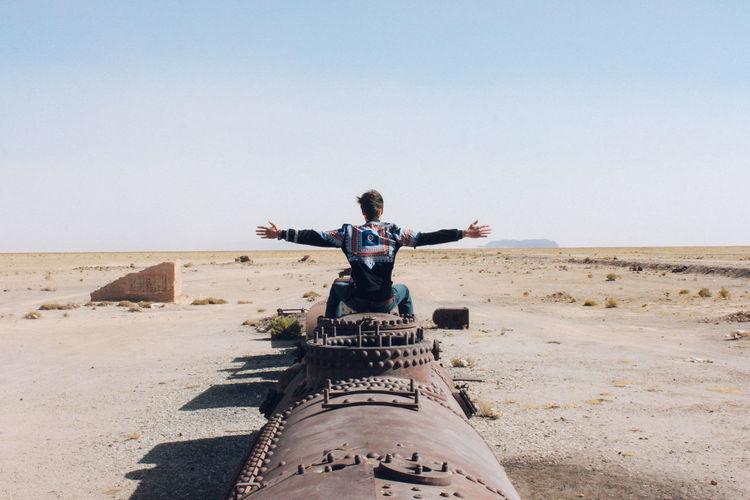 Abandoned Places BYOPaper! Desert Landscape Nature Outdoors Sky Train