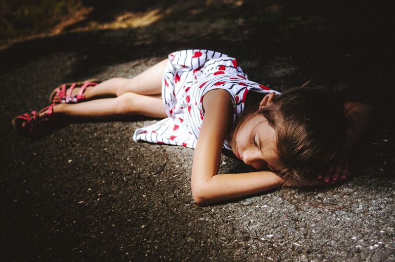 Girl EyeEm Best Shots EyeEm Gallery EyeEmBestPics Outdoors Beauty Portrait Cute Nature Mood Full Length Lying Down Child Summer Sunlight Childhood Lying On Side Lying Attractive Human Body The Portraitist - 2018 EyeEm Awards Summer Road Tripping Capture Tomorrow