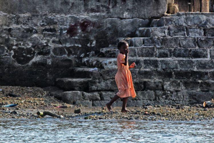 The girl in the pink dress. FazaIsland Lamu Kenya Africa Colors Travel Wanderlust Children Canonphotography The Portraitist - 2016 EyeEm Awards