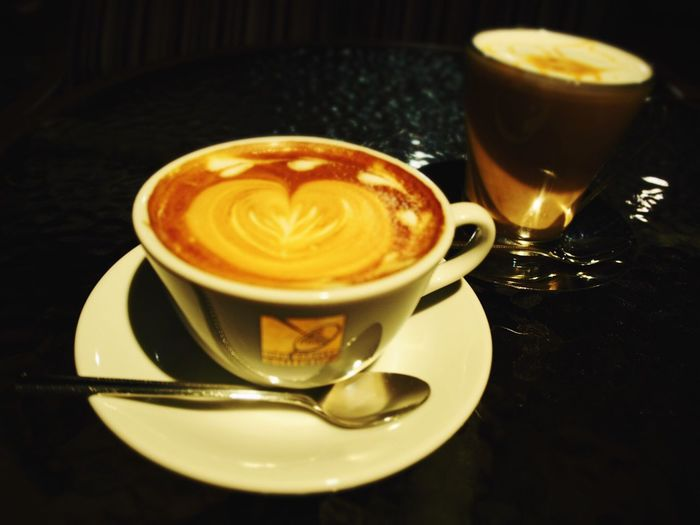 Cappuccino Coffee Break HIROcoffee Coffee Time Late Evening