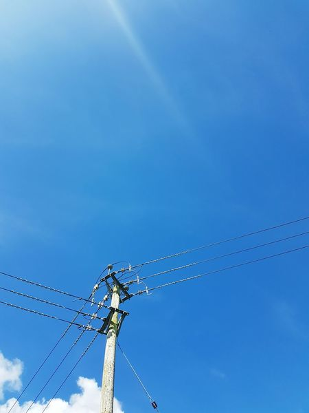Sky And Clouds Sky Countryside Telegraph Pole Beautiful Day Nature Peace And Quiet Blue Sky Simple Beauty