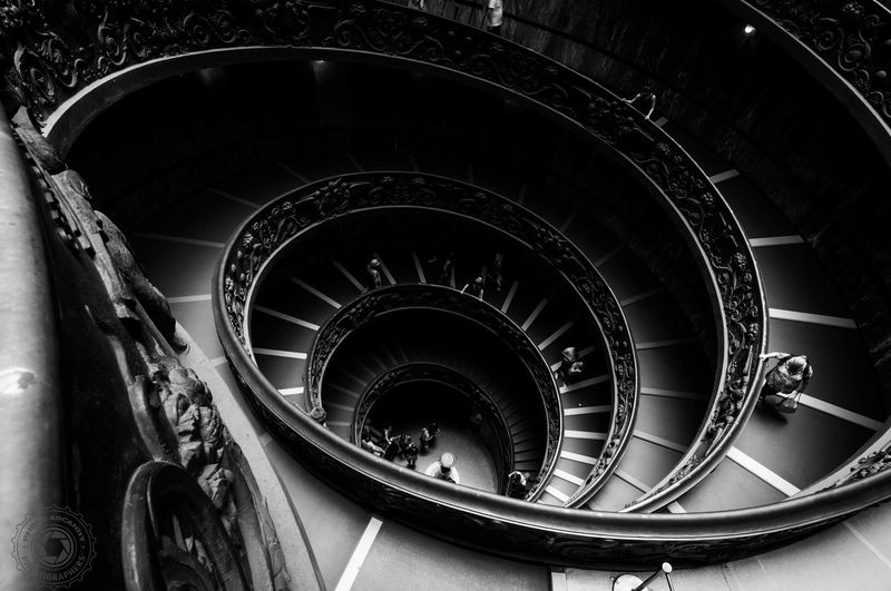 Staircase Spiral Steps And Staircases Steps Railing High Angle View Architecture Spiral Stairs Spiral Staircase Indoors  Rome Italy🇮🇹 Vatican Museum Arts Culture And Entertainment