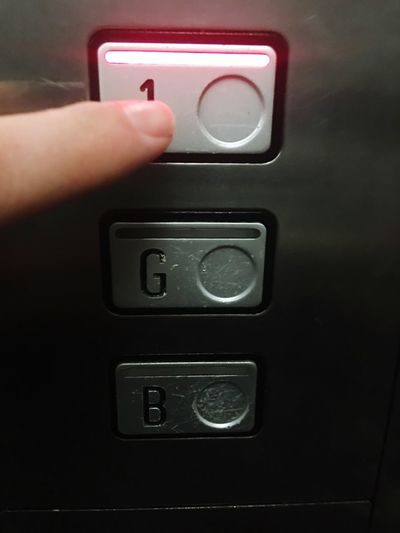 Pressing buttons in the lift Close-up Button Lift Pressing Pressing Buttons Floor Number