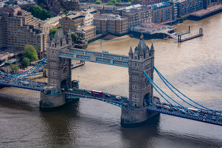Architecture Built Structure Bridge Bridge - Man Made Structure Connection Transportation Water City Building Exterior River Travel Destinations Engineering Waterfront Tourism Travel Outdoors Tower Bridge  River Thames High Angle View Historic