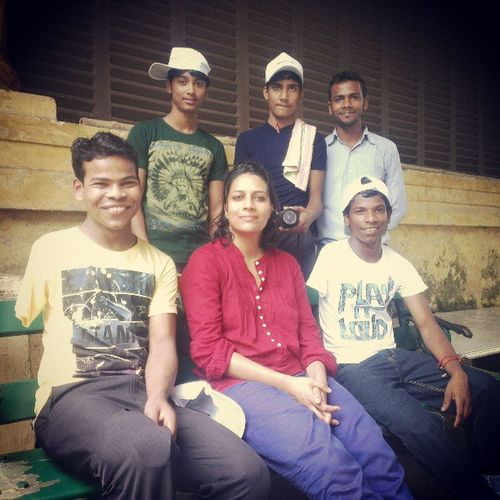 Children from Hopefoundation after the EuropeanCalcutta Tour for the Joyofgivingweek Calcutta with Anjali who sponsored a child for the tour. incrediblecalcutta