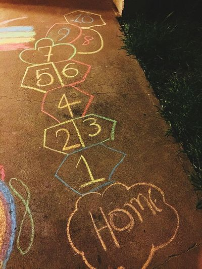 """In my mind I'm always going home...."" Childhood Memories, Hopscotch"
