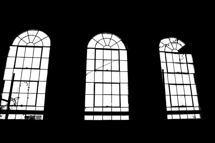 Old Warehouse Windows Black & White 3 Weeks Old 3 Windows Antique Window Fan Arched Windows Architecture Backgrounds Blackandwhite Building Built Structure Design Full Frame Glass Glass - Material Historic Indoors  Low Angle View Modern Ornate Pattern Religion Repetition Transparent Vintage Watch Warehouse Win Window