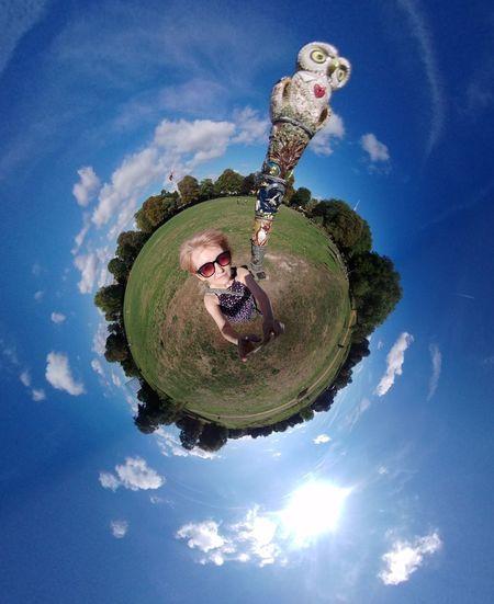 park life planet Scupture 360 Tree Water Blue Planet - Space Sky Cloud - Sky #urbanana: The Urban Playground