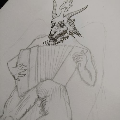 Baphomet Lavey Sketch First Eyeem Photo