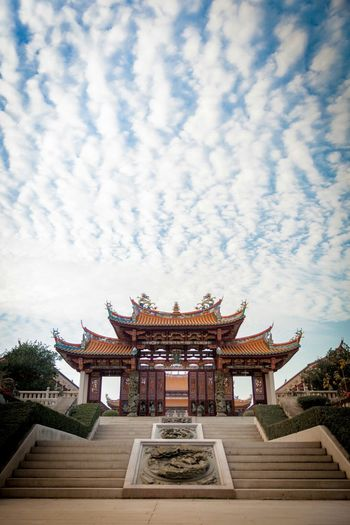 Modern old-style temple... A-Ma Cultural Village, Macau. Architecture Religion Sky Cultures Place Of Worship Travel Destinations Building Exterior Cloud - Sky Tranquil Scene No People Roof Built Structure Outdoors Macau Macau, China