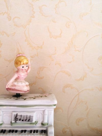 Musicbox Doll Vintage Child Infancy Inocence  Girl Cute Pink Childhood Old Music Box