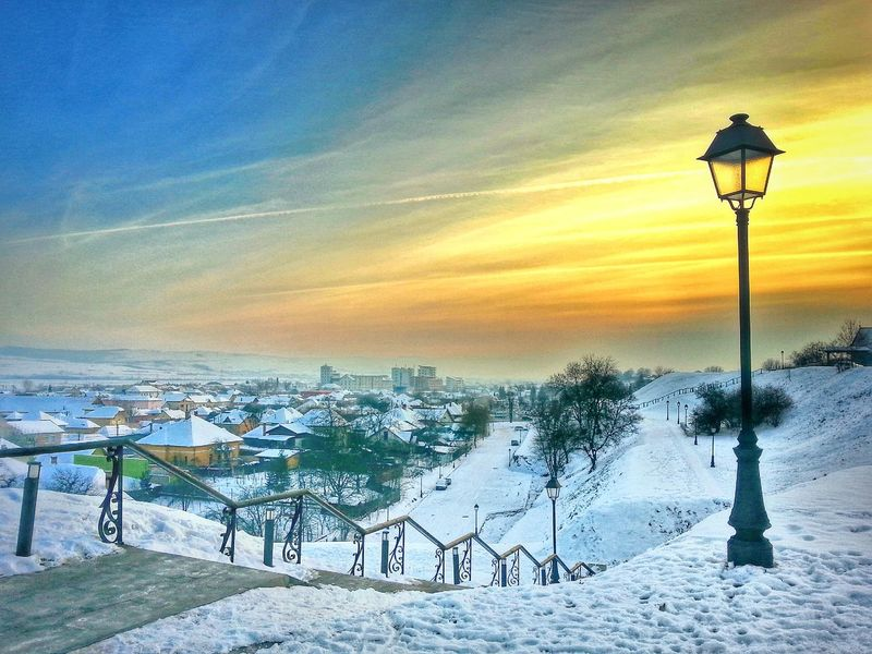 Sunset view EyeEm Nature Lover Eye4photography  EyeEm Best Shots Winter Panoramic Mobilephotography Love Albaiulia Sunset Hdr_Collection