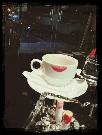 Coffee And Cigarettes Red Red Lipstick Cafe Time
