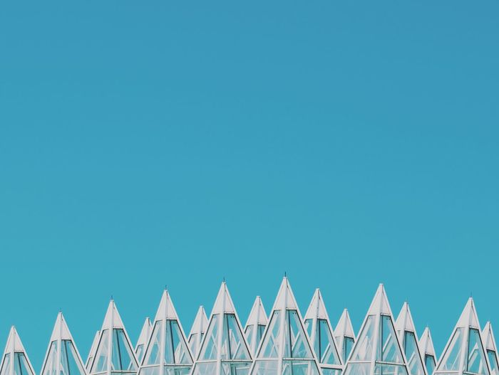 Architecture Architecture_collection Budapest Edge Hungary Architectural Detail Architectural Feature Architecture Blue Building Exterior Built Structure Clear Sky No People Outdoors Sharpness Sky