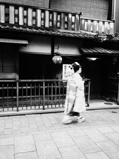 Geisha Maiko Kyoto Japan Blackandwhite Black And White Black & White First Eyeem Photo EyeEm Best Shots EyeEm Best Edits