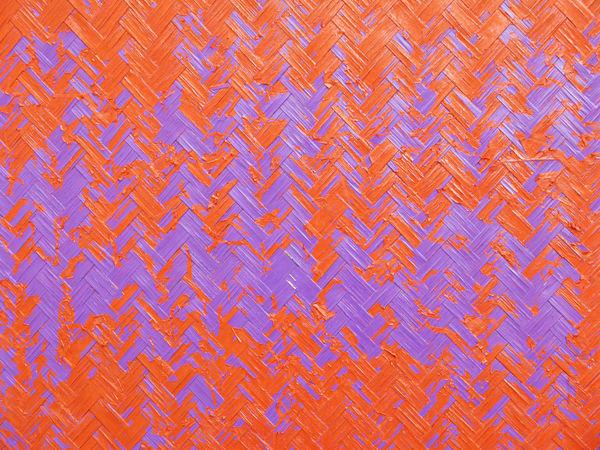 Textured  Weave Wood Art Art And Craft Close-up Color Craft Design Handcraft Orange Color Pattern Patterns & Textures Peeling Paint Purple Textured  Violet Weave Pattern Woven Woven Bamboo Woven Pattern