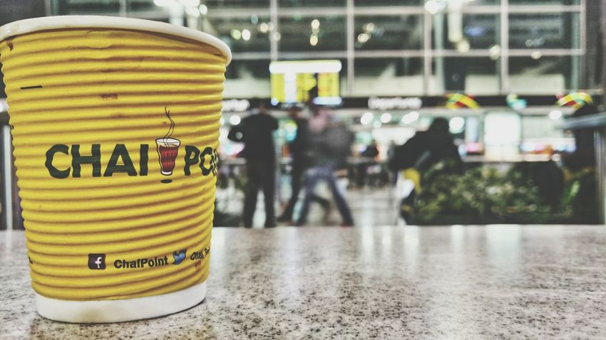 because India runs on chai Chai Tea India Airport Rush Life Late-night Beverage Peace And Quiet Communication Text Yellow Airport Departure Area Transportation Building - Type Of Building