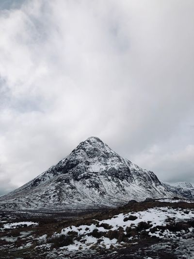 Glen Coe Glen Coe Highlands Scotland Sky Cloud - Sky Snow Winter Beauty In Nature Tranquility Nature Mountain Peak
