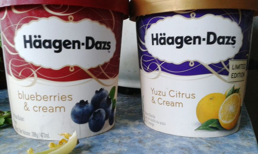 Häagen-Dazs My Favourite Ice Cream TryingNew Flavour Bluberry Yuzu Citrus Enjoying Life Feeling Happy