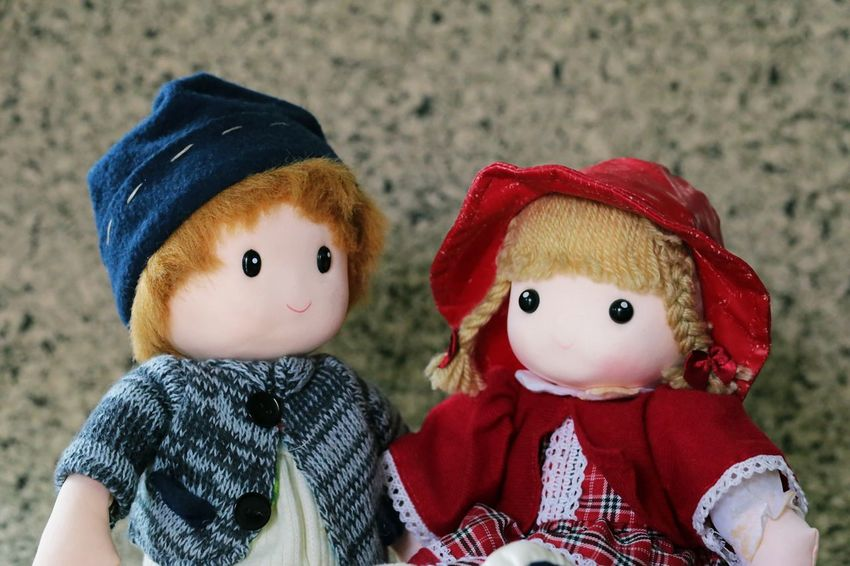 Doll Babyhood Winter Day Child Hat Toy Representation Childhood Clothing Stuffed Toy Red Baby Cute Knit Hat Innocence Copy Space Backgrounds Background Decoration Holiday Seaon Weather Christmas Christmas Decoration