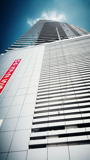 Low Angle View Architecture Building Exterior Built Structure Tall - High Skyscraper Modern Tower Outdoors Office Building No People Flying Sky City Cloud Day Building Story Tall