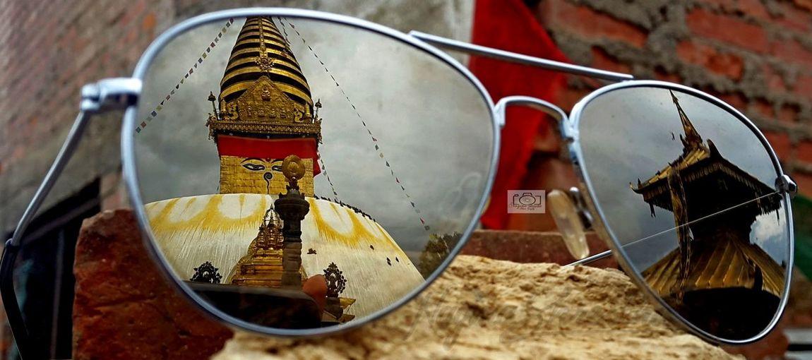 ASIA Architecture Clickphoto ExploreNepal Nepal World Heritage Close-up Focus On Foreground Haratimaa Nepal Travel Outdoors Reflection Photography Selective Focus Swoyambhu