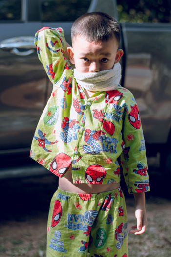 Ninja Child Childhood Cute Focus On Foreground Lifestyles Looking At Camera One Person Portrait First Eyeem Photo