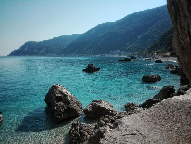 Water Sea Scenics NatureMountain Beauty In Nature Beach Outdoors Tranquility Rock - Object Tranquil Scene Landscape Day Sand Sky Horizon Over Water Summer ☀ Travel Destinations Greece Travel Photography Lefkada Island Lefkada Lefkada, Greece