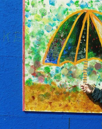 under my umbrella, brella, brella... Art, Drawing, Creativity ArtWork Street Photography Streetart Hello Sunshine Umbrella Umbrellas Umbrella☂☂ Colour Colourful Life Colourful View Colourfull Singing In The Rain Colourfull Moment From My Point Of View Check This Out! Paintings On The Wall Colour Of Life TakeoverContrast Art Is Everywhere