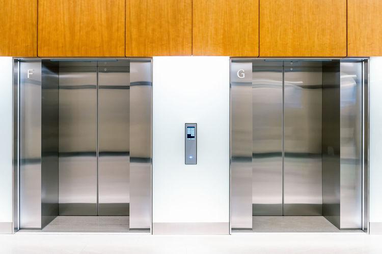 Closed Elevator In Building