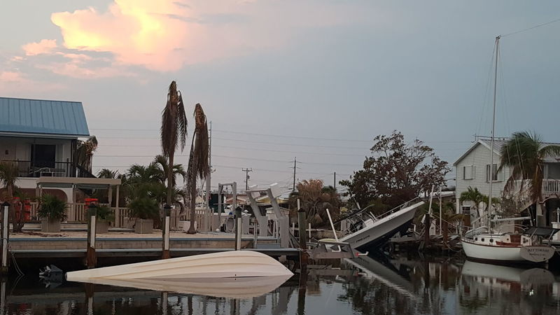 Water Residential Structure Davit Stormdamage Canal Sunken Ship Sunken Boat Calmafterthestorm Calm Water Afterthestorm  Water Damage HurricaneIrma Hurricane Irma No People Reflection Waterreflection Flatwater