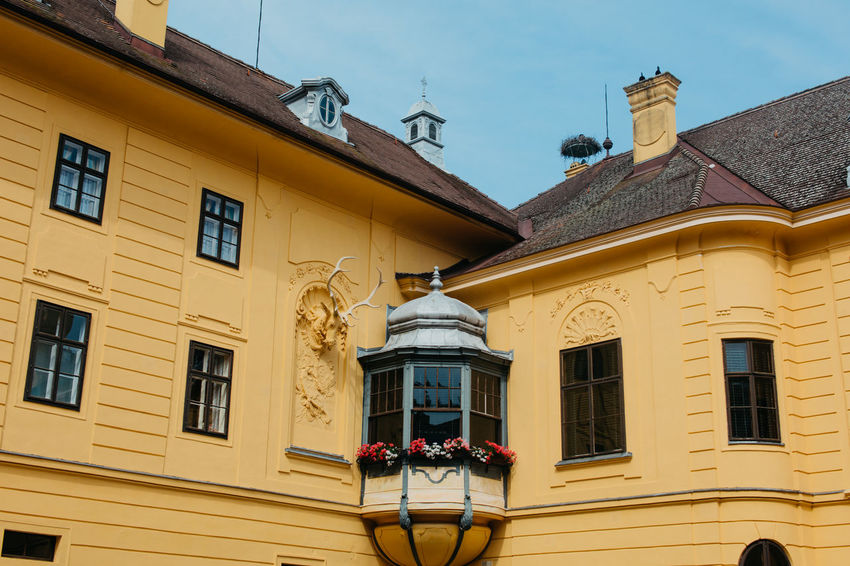 Arhitecture Balcony Building Exterior Built Structure Castle Eckartsau History No People Old Buildings Outdoors Road Sky Trees Window