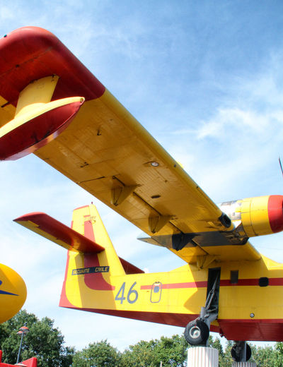 Bomber Canadair Canadairjet Cloud Cloud - Sky Clouds And Sky Day Firework France Photos Low Angle View Outdoors Plane Sky Water Bomber Yellow
