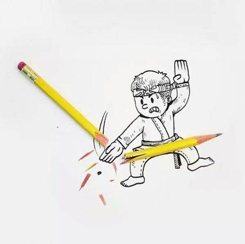 Karate Lapis Papel Criatividade