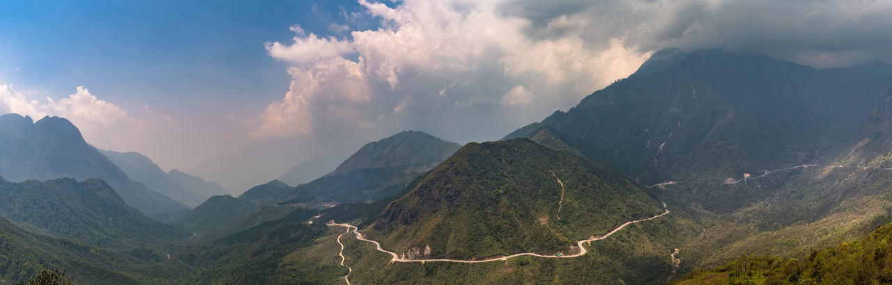 O Quy Ho Pass, road before Sa Pa Beauty In Nature Cloud - Sky Landscape LaoCai Mountain Mountain Range No People North Viet Nam North Vietnam O Quy Ho Pass Outdoors Panorama Panorama View Panoramic Photography Road Roadtrip Sa Pa Sapa Sapa, Vietnam Scenics Tranquility Viet Nam Vietnam Winding Road