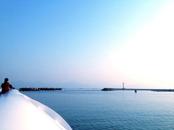 Ocean Ship Harbou winter day . Urban Geometry Lighthouse