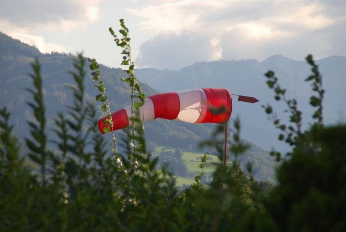 Measurement Measurement Point Messung No People Red Sky Wind Wind Measurement Windhosen Windmessung Windsack