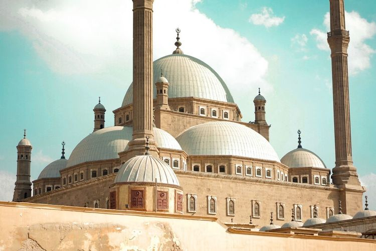 Internal spirit within Ali Pasha Mosque Cairo, Egypt. Dome Religion Architecture Place Of Worship Sky Spirituality Travel Destinations Built Structure Day Architectural Column Cloud - Sky Building Exterior Outdoors No People Cairo Egypt Islamic Mosque First Eyeem Photo