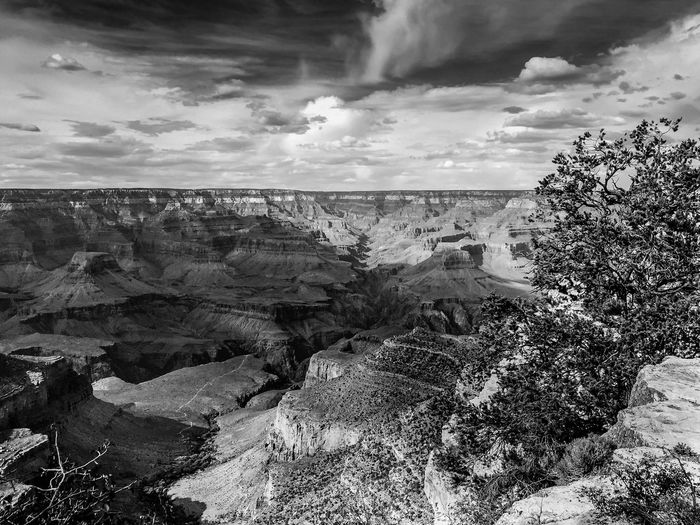 Tranquil Scene Scenics Sky Dramatic Landscape Tranquility Fresh On Eyeem  Landscape Physical Geography Travel Destinations Beauty In Nature Rock Formation Extreme Terrain EyeEm Best Shots Black And White Blackandwhite Photography Blackandwhite Nature Non-urban Scene Cloud Grand Canyon EyeEmBestPics EyeEm Gallery The EyeEm Collection Pic Of The Day Monochrome Photography