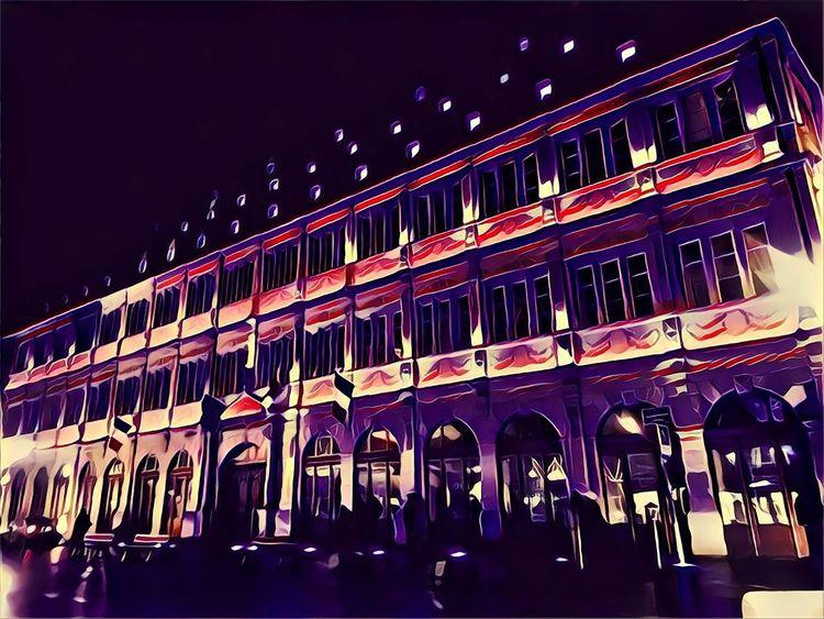 City Illuminated Architecture Building Exterior Built Structure